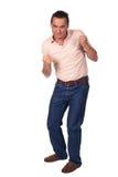 пунш представления человека бой готовый к Стоковое Фото
