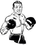 пунш профессионала чемпиона боксера предпосылки черный бесплатная иллюстрация
