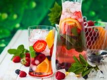 Пунш плодоовощ и ягоды Стоковые Изображения RF