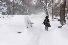 Пурга Монреаля в январе 2018 Стоковое Фото