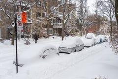 Пурга Монреаля в январе 2018 Стоковое фото RF