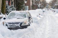 Пурга Монреаля в январе 2018 Стоковая Фотография RF