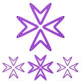 Пурпурная линия набор дизайна логотипа стрелки стоковые изображения rf