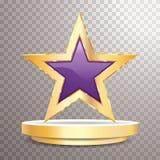 Пурпурная рамка золота звезды бесплатная иллюстрация