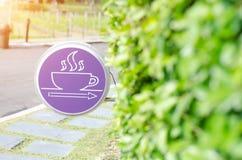 Пурпурный значок круга стоковая фотография rf