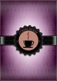 Пурпуровая конструкция меню дома кофе Стоковое Изображение