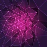 Пурпуровая конструкция фрактали Стоковое Изображение RF