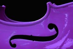 пурпуровая скрипка Стоковые Фото