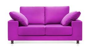 пурпуровая софа Стоковое Фото