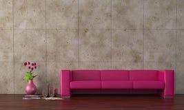 пурпуровая софа Стоковые Фото