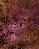 Пурпуровая текстурированная стена с черными свирлями Стоковые Фото