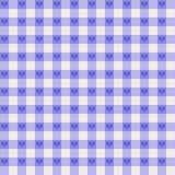 Пурпуровая ткань холстинки с предпосылкой сердец Стоковое Изображение RF