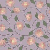 Пурпуровая флористическая картина Стоковое Изображение RF
