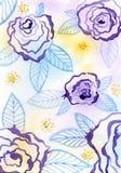 Пурпуровая флористическая картина Стоковые Изображения