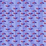 Пурпуровая флористическая картина Стоковое Фото