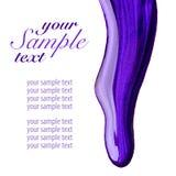 Пурпуровая эмаль ногтя пропустила Стоковое Изображение
