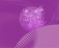 Пурпуровое абстрактное флористическое Backround Стоковые Изображения RF