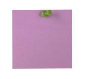 Пурпуровое липкое примечание Стоковое Фото