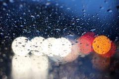 пурпуровое окно дождя Стоковая Фотография RF
