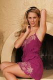 Пурпуровое платье Стоковая Фотография RF