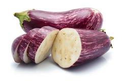 Пурпуровые овощи баклажана изолированные на белизне Стоковые Изображения RF