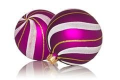 Пурпуровые baubles рождества стоковые фото