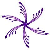 пурпуровый закручивая завихряться свирли Стоковое Изображение RF