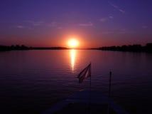 пурпуровый заход солнца Стоковая Фотография RF
