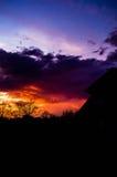 пурпуровый заход солнца Стоковое Изображение RF