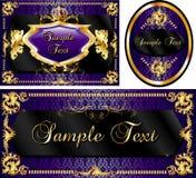 пурпуровый королевский шаблон комплекта иллюстрация вектора
