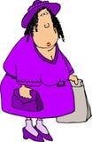 пурпуровый покупатель Стоковые Изображения RF