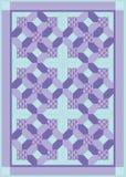 пурпуровый quilt Стоковая Фотография