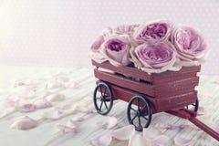 пурпур букета поднял Стоковое Фото