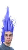 пурпур волос парня стоковые изображения