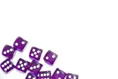 Пурпур графика Dices Стоковые Фото