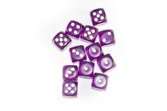 Пурпур графика Dices Стоковое фото RF