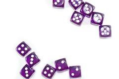Пурпур графика Dices Стоковое Изображение