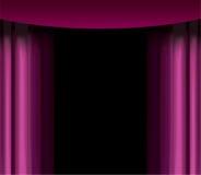 пурпур занавеса Стоковые Фотографии RF