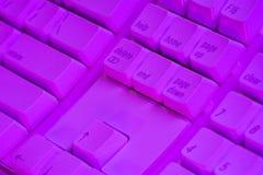 пурпур клавиатуры Стоковое Изображение RF
