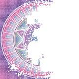 пурпур мозаики старый Стоковые Фото
