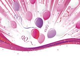 пурпур пинка партии взрыва Стоковое Фото