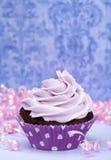 пурпур пирожня дня рождения Стоковая Фотография RF
