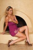 пурпур платья Стоковые Фото