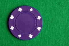 пурпур покера обломока Стоковые Фото
