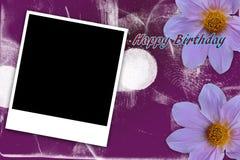 Пурпур рамки поляроидный Стоковые Изображения