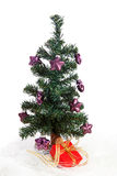 пурпур рождества пластичный играет главные роли вал Стоковая Фотография RF