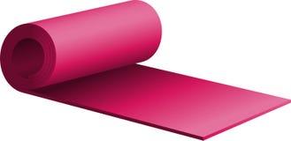 пурпур циновки тренировки половинный свернутый вверх Стоковое Изображение