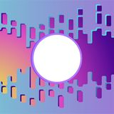 Пурпур шлама абстрактный и розовая жидкостная предпосылка иллюстрация вектора