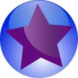 пурпур bookmark любимейший Стоковая Фотография RF