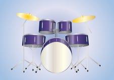 пурпур drumset Иллюстрация вектора